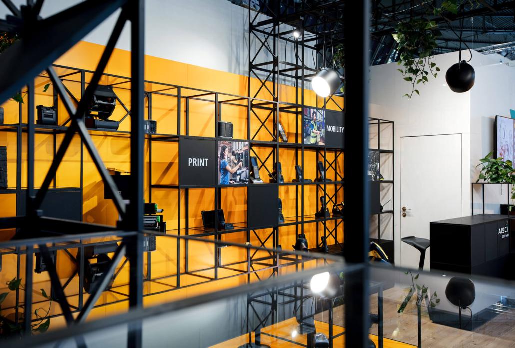 Das System basiert auf dem Corporate Design von Aisci.